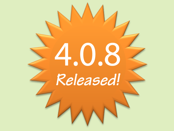 4.0.8 Released